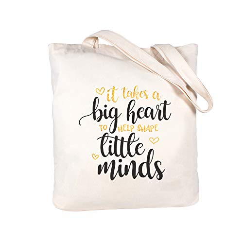 Caraknots Teacher Appreciation Gifts Teacher Gifts Bag Teacher Christmas Gifts Canvas Teacher Bag and Tote with Pocket Teacher Tote Bag Cotton