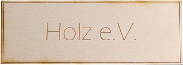 Deurbel met persoonlijke gravure, hoogwaardig deurbordje van kunststof, 60 x 15 mm, rechthoekig - verschillende kleuren hout