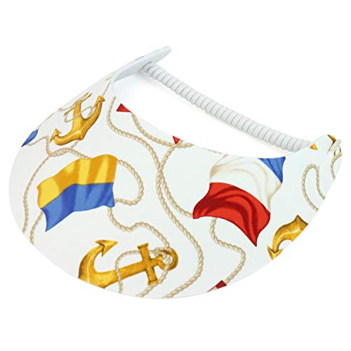 Trendy Apparel Shop Sailing Boat Anchor Foam Sun Visor with Elastic String - K