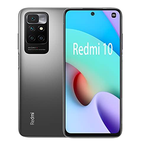 Xiaomi Redmi 10 Smartphone (Grigio (Carbon Gray), 4 + 128GB)