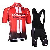 Feilaxleer Ropa Ciclismo Verano para Hombre y Mujer - Un Conjunto de Ciclismo Jersey Maillot y Culotte Pantalones Cortos...