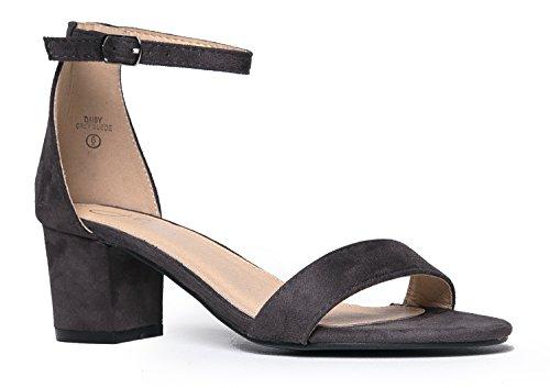 J. Adams Daisy Mid Heel Sandal Grey 11 B(M) US