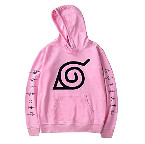 Men Hokage Ninjia Naruto Printed Drawstring Hooded Cool Long Sleeve Loose Fit Hoodies ASmall