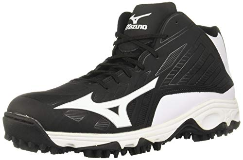 Mizuno 9-Spike Advanced Erupt 3 Mid Black/White 6