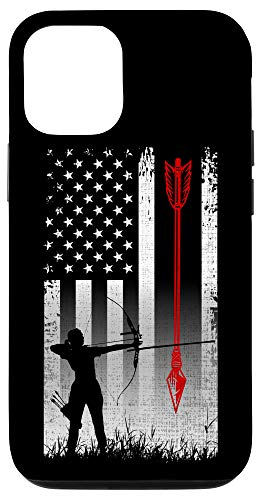 iPhone 12/12 Pro Patriotic American Flag Hunter Bow Hunting Gift Case
