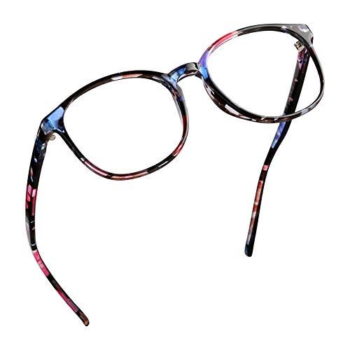LifeArt Blu-ray-Brillen, Lesebrille für Computer, transparente Linse, Kopfschmerzen reduzieren & trockene Augen verhindern, Mode für Männer/Frauen +1.75