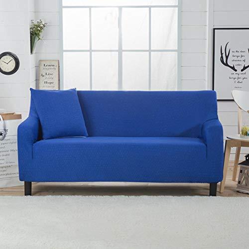 Allenger 1 Protector elástico para Muebles,Funda de sofá elástica Gruesa de Color sólido, Funda de sofá con cojín de sofá Universal Todo Incluido para Todas Las Estaciones Toalla-Blue_190-230cm