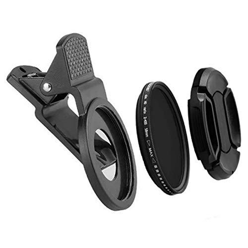 EKDJKK Photography Portable Camera ND2 to 400 Mobile Phone Neutral Density ND Filter(Black)