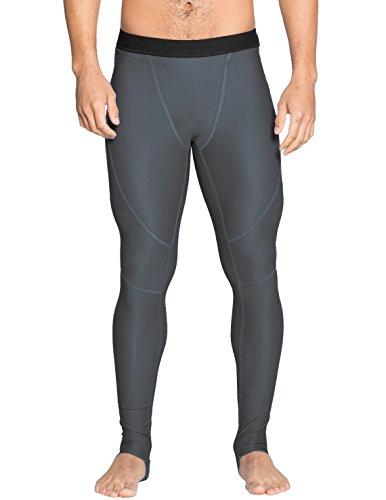 Tuga Men's Snorkel Stirrup Swim Legging (UPF 50+), Grey, Medium