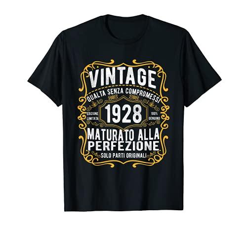 Vintage 1928 regalo divertente 93 anni compleanno Maglietta Maglietta