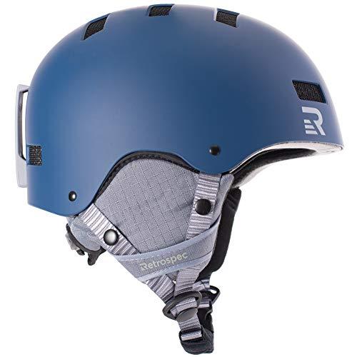 Retrospec Traverse H1 Ski & Snowboard Helmet, Convertible to Bike/Skate, Matte Midnight, Medium (55-59cm)