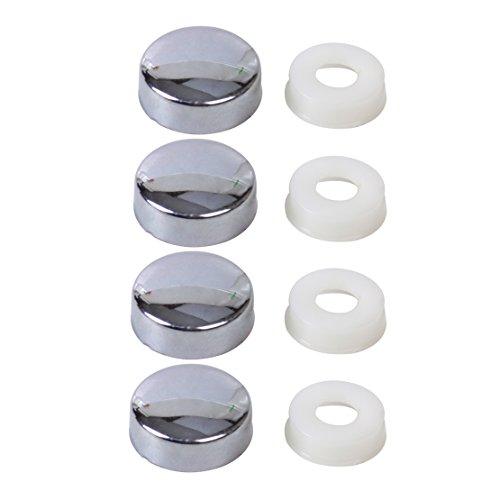 beler Silber Kennzeichen Schraube Kappe Abdeckung für Nummernschild Rahmen Verschluss (4er Set)