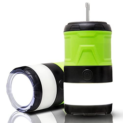 Bug Zapper - Linterna de camping recargable reemplazable con batería plegable, gancho portátil para colgar en interiores y exteriores, color verde