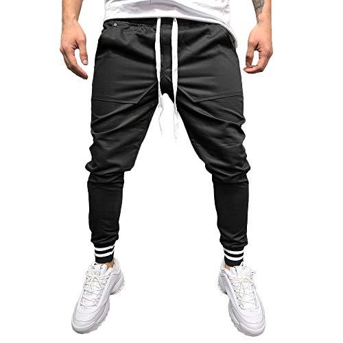 SANFASHION Herren Hosen Herbst Winter Männer Casual Hip Hop Jogger Laufen Sport Track Pants Reine Taschen Sport Arbeits Bequem Hose M-3XL