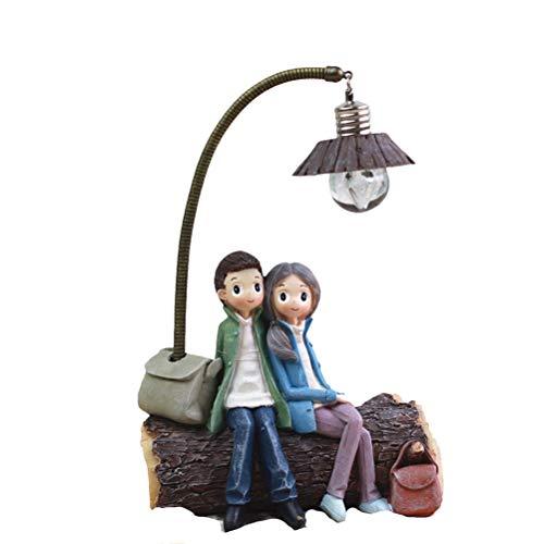 VOSAREA Mini lámpara de salón o dormitorio, decoración artesanal, regalo para los amantes de la casa, día de San Valentín -D