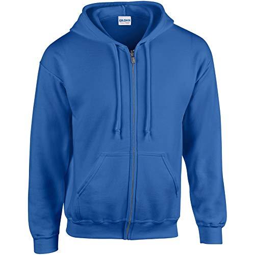 Gildan Adult Heavy Full-Zip Hooded Sweatshirt, Royal, Medium