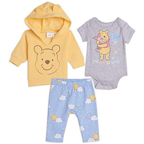 Disney Winnie The Pooh Baby Boys Costume Creeper Hoodie Pant Set Yellow 3-6 Months