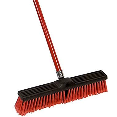 American Market Large 18'' Multi-Surface Push Broom with Alloy Handle