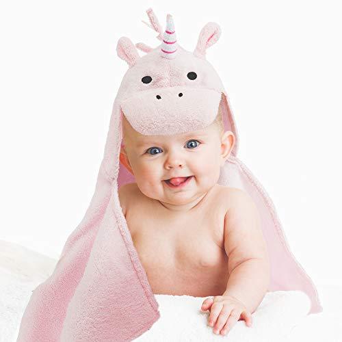 all Kids United® Babyhandtuch mit Kapuze I Kapuzenhandtuch für Babys und Kinder 78 x 58 cm I Kapuzentuch aus 100% Frottee Baumwolle - Baby Badetuch mit Kapuze - Öko-Tex 100