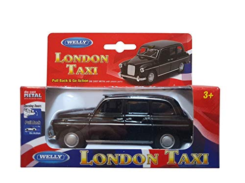 Souvenir de collection - Die Cast London Modèle Black Taxi Pull Back & Action [Jouet]