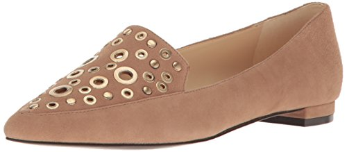 Nine West Womens Akeelah Suede Pointed Toe Flat