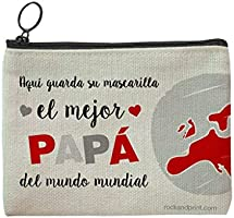 Funda mascarilla regalo PAPÁ personalizada guardamascarilla mejor padre mundo mundial