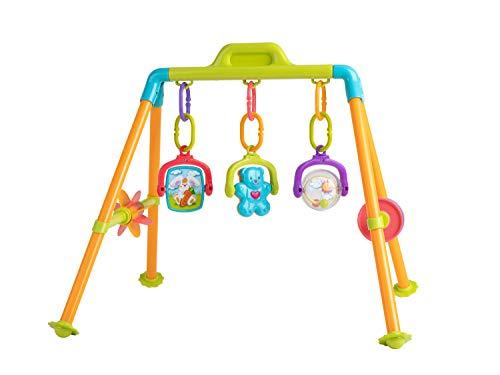 bieco Spieltrapez | Spielbogen für Babys -Figuren, Rasseln, Kugeln 57x 53x 50 cm | Baby Spielzeug ab 6 Monate | Baby Gym | Baby Mobile | Baby Spielbogen | Activity Center Baby | Spielebogen Babies