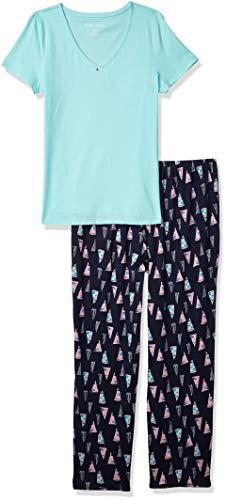 Nautica Women's Pajama Set, Dkblprt, S