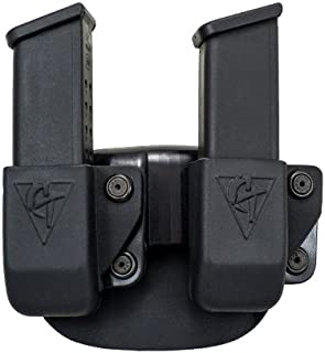 COMP-TAC.COM Twin Magazine Pouch Paddle - Size # 10-1911 Double Stack, HK USP, Left Side Carry (Right Hand Shooter)