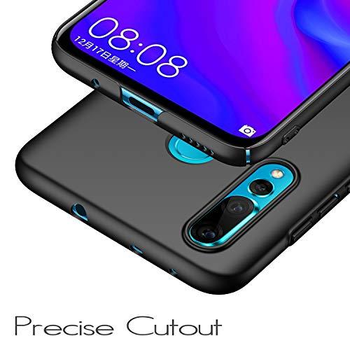 anccer Kompatibel mit Huawei Nova 4 Hülle, [Serie Matte] Elastische Schockabsorption und Ultra Thin Design (Glattes Schwarzes) - 2