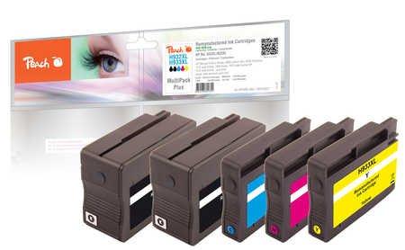 Peach Spar Pack Plus Tintenpatronen kompatibel zu HP No. 932XL, No. 933XL