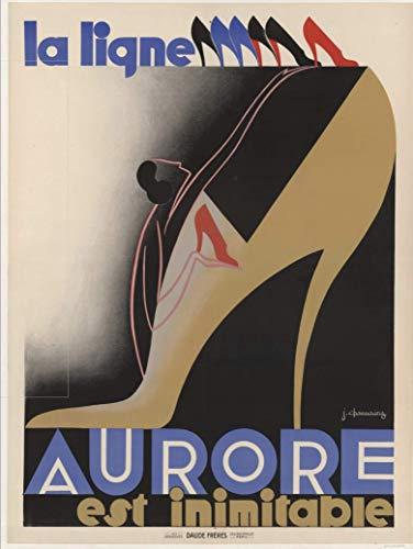 Pub calzado Aurore inimitable póster, formato 50 x 70 cm, papel de...