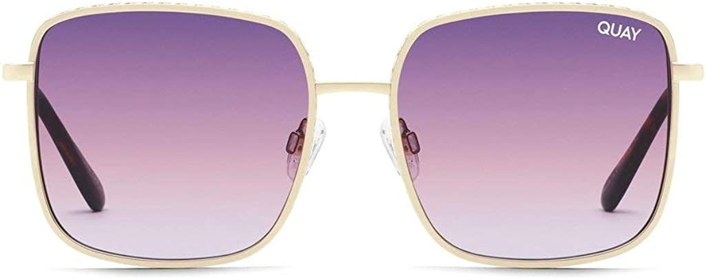 Quay Womens half Real One National products Pink Gold Purple Sunglasses