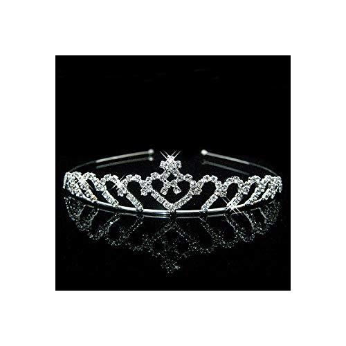Prinses Crystal Tiaras En Kronen Hoofdband Kid Meisjes Liefde Bruids Prom Kroon Bruiloft Party Accessoires 13