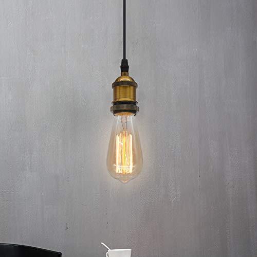 Oro E27 Lámpara colgante vintage Lámpara de mesa de comedor Comedor retro luz colgante de altura ajustable Dormitorio Mesita de noche Habitación de los niños Araña Estudio Hotel Lámpara de techo Ø5cm