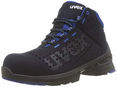 Uvex 1 Bota de Seguridad S1 SRC | Zapato Profesional de Trabajo | Punta Antiaplastamiento de Composite | Azul ✅