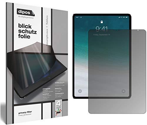 dipos I Blickschutzfolie matt kompatibel mit Apple iPad Pro 12.9 Zoll (2018) Sichtschutz-Folie Bildschirm-Schutzfolie Privacy-Filter