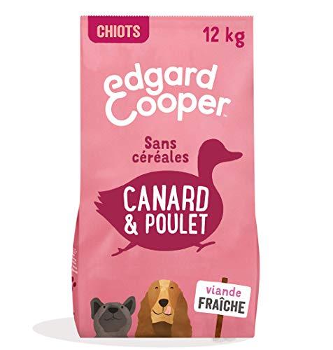 Edgard & Cooper Croquettes Chiot Chien Junior Sans Cereales Nourriture Naturelle 7kg Canard et Poulet Frais, Alimentation saine savoureuse et équilibrée, Protéines de qualité supérieure (12kg)