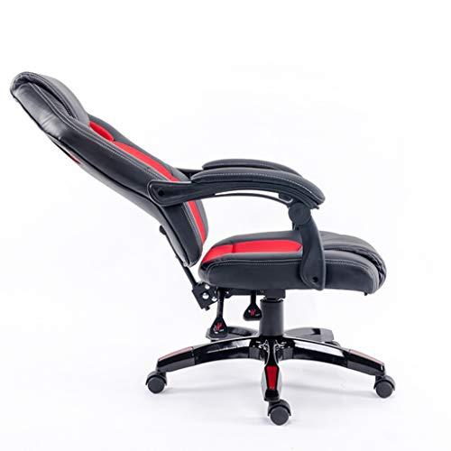 JXJJD E-Sports Silla de la computadora Silla de la Oficina Asiento en el hogar Silla reclinable Asiento Giratorio Juego de Juego