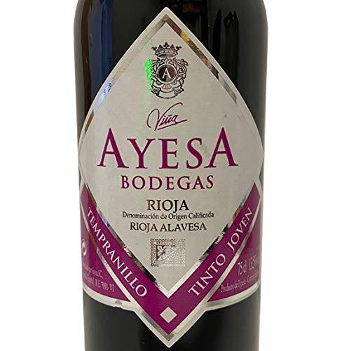 AYESA Vino Tinto Joven Maceración Carbónica - D.O.Ca Rioja - 6 Botellas de 750 ml - Total: 4500 ml