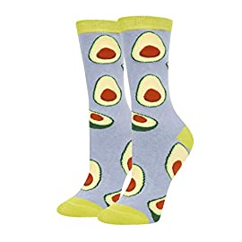 Happypop women girls pineapple pickle dill avocado taco donut socks, novelty food fruits gift 3 ★【dill pickle socks】green big dill socks for women. Bright socks complete with cool pickles with glasses; when you're in a pickle, these socks will remind you to relish the simple things in life. Grab a pair of these pickle socks. ★【size & packing】 these funny cucumbers socks fit for women shoe size 6-12; socks size 8-13. 1 pair comes in each plastic zippered happypop bag. ★【quality material】we use 80% cotton, 17% polyamide, 3% spandex to ensure that our pickle socks are soft, comfortable, and stretchy and breathable. No fading, hold up well in the laundry.