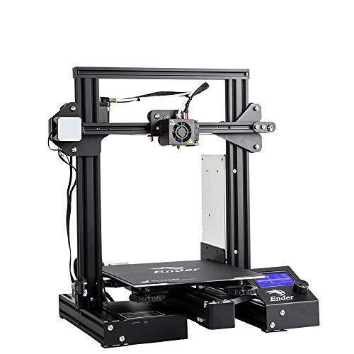 ZHAORLL Creality Imprimante 3D Haute précision Ender-3 Pro/mémoire de Mise Hors Tension / 5 Minutes de Chauffage/Autocollants magnétiques Doux/Version améliorée de DIY l'imprimante