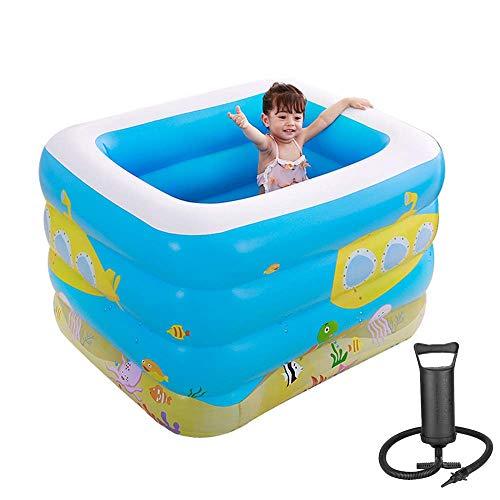 Opblaasbaar Zwembad, Children's Household Zwembaden Met Handmatige Luchtpomp Voor Outdoor Garden Paddling