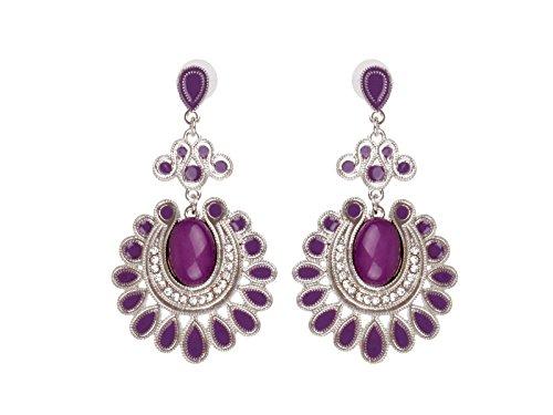 scarlet bijoux   Ohrring lila