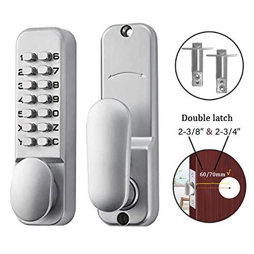 SPOTACT Mechanical Keyless Door Lock 6 Code Gate Lock,Latch Lock 2 ...
