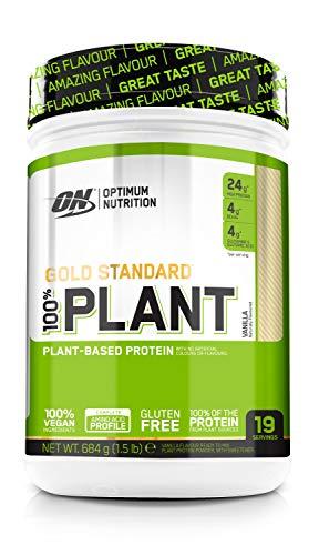 Optimum Nutrition ON Gold Standard 100% Plant, Vegan Protein Pulver mit Vitamin B12 und Vitamin C, Proteinpulver für Muskeln, Vanilla, 19 Portionen, 684 g