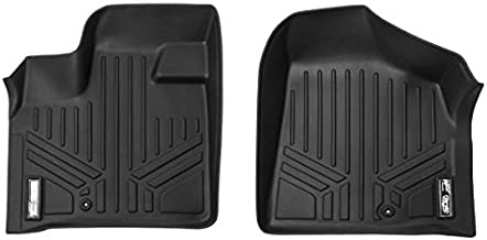 MAXFLOORMAT Floor Mats for Dodge Grand Caravan / Chrysler Town & Country (2008-2017) First Row Set (Black)