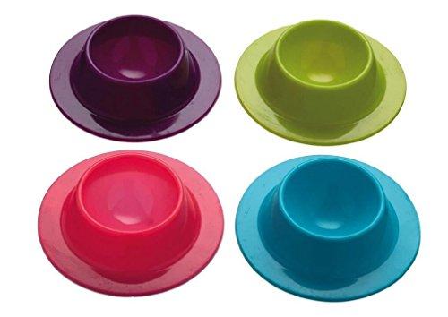 Demarkt 4 Pcs Coquetier Design en Silicone Rangement D'oeufs Support à Oeufs Oeuf Tasses Outils de Cuisine (Coloré)