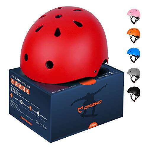 CRZKO Kinderfahrradhelm, Sicherheits-Kleinkindhelm Anti-Shock für Multi-Sport, Fahrrad-Skate-Scooter-Skateboard, ASTM & CPSC-Zertifiziert, einstellbar von Kleinkind bis Jugend mit 3 Größen