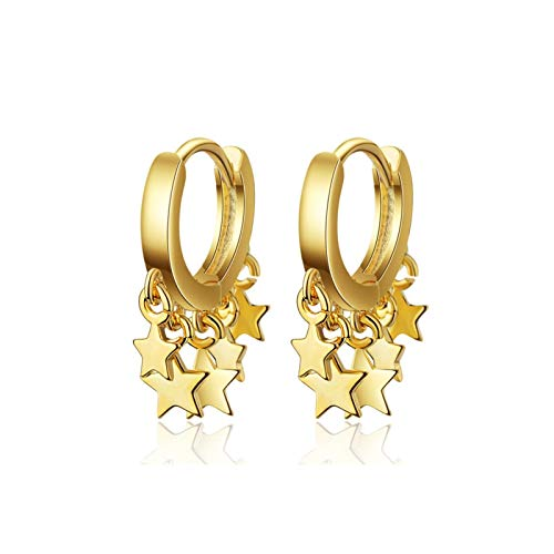 Xx101 Exquisitos Pendientes De Plata Esterlina De 925 para Damas Pendientes De Borla con Oro Y Color Plateado. Nixx0 (Color : Gold)